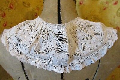 Antique Floral Net Lace Collar