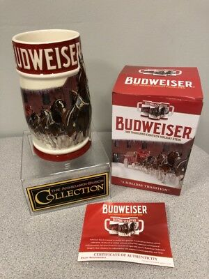 2018 Budweiser Annual Holiday Stein