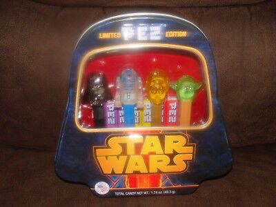 STAR WARS Pez LIMITED EDITION  Collection OF 4 , Still Sealed NEW