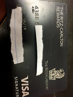 Ritz Carlton Credit Black Card Elite Rewards Credit Card Plastic from 2013