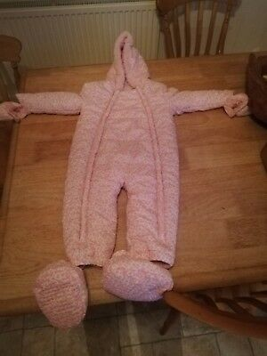 Immaculate Pink warm snowsuit 18-24 months
