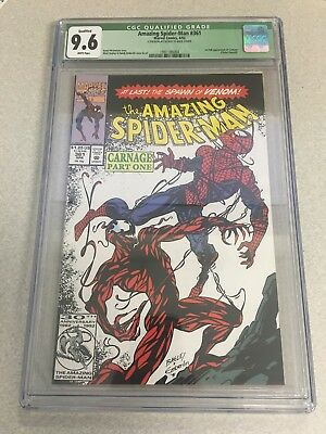 The Amazing Spider-Man #361 CGC 9.6 First Appearance Of Carnage White Pages