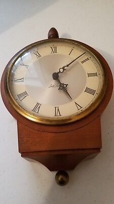 Antique WORKING Seth Thomas Clock Co Round Gallery Wall Clock. No reserve!