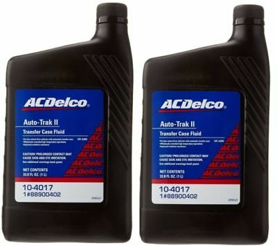 New OEM GM ACDelco (2 Pack) 10-4017 Auto-Trak II Transfer Case Fluid - 33.8 oz