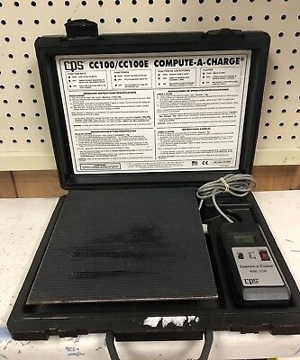 CPS Model CC-100 Compute-A-Charge Refrigerant Scale HVAC