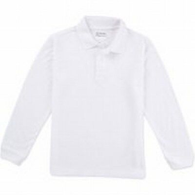 George Boys Uniforms Long Sleeve Pique Polo Shirt, Size 10/12 NWOT FS 451.449