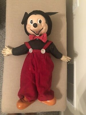 vintage gund mickey mouse doll
