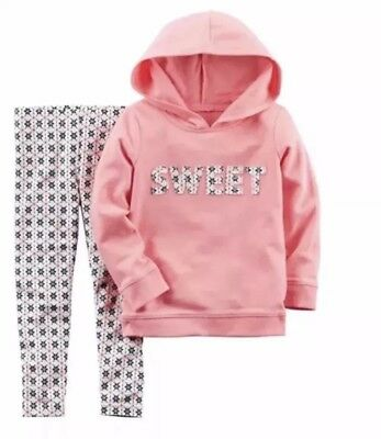 11c91d983 New Carters Baby Girl 2 Piece Sweet Hoodie Jegging Set 6 Months Sweet Pink  NWT
