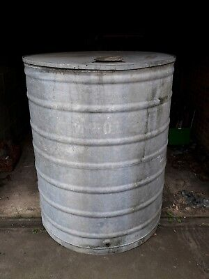 Vintage Large Galvanised Farmers Water Butt/Tank - Cylinder/Pond/Hot Tub