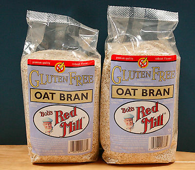 (2/18oz) Bob's Red Mill GLUTEN FREE OAT BRAN  baking, high fiber cereal, natural