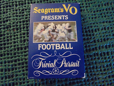O1994 Seagrams VO Presents Football - Trivial Pursuit Game - (opened)