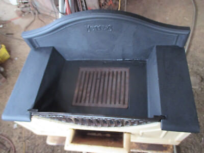 """No-4-CAST  IRON  METTERS OPEN  FIRE PLACE  --VINTAGE  STYLE  --27  """"  x 14  """"  h"""