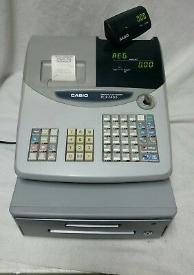 Casio PCR-T465 Programmable Electronic Cash Register (C) complete with keys!!