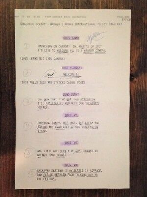 Mel Blanc Signed Commercial Script for Bugs Bunny and Tweety Owned by Mel Blanc