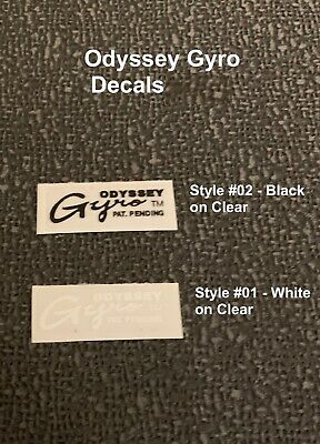 Choice 3 colors ODYSSEY GYRO CABLE DECALS sale is for 1 Pair