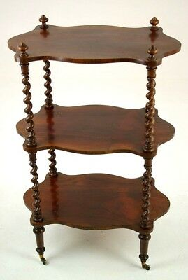 Walnut Etagere, Barley Twist What Not, Three Tier Stand, Scotland 1880, B1274