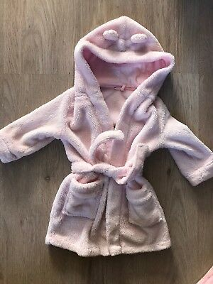 Mothercare Baby Girl Housecoat 12-18 Months
