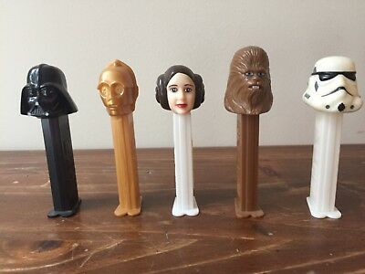 Five Pez Star Wars