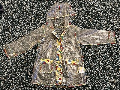 Little Bird Girls Clear Raincoat Age 6-7 Mothercare Jools Oliver