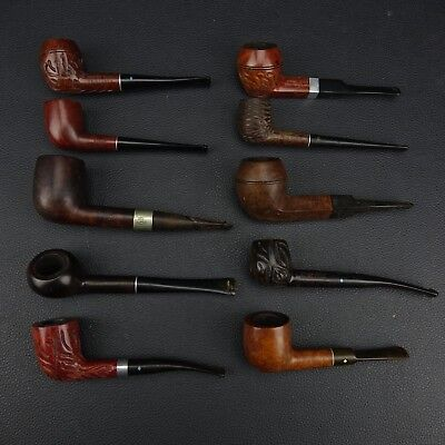 Nice Collection Lot of 10 Vintage estate Tobacco Pipes