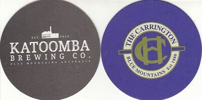 Katoomba Brewing Co - The Carrington Hotel Australian Round Coaster - Beer Mat
