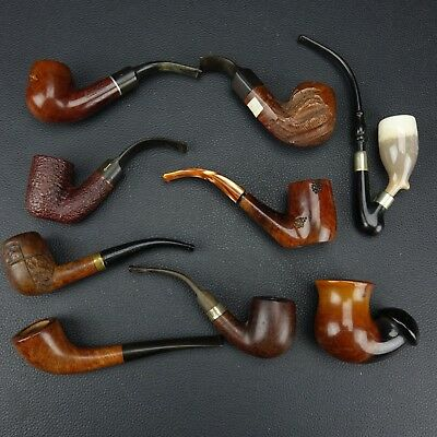Nice Collection Lot of 8 Vintage estate Tobacco Pipes