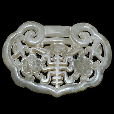 Natural jade of ancient Chinese culture wealth longevity pendant ~ruyi
