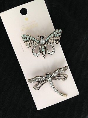 OASIS Butterfly & Dragonfly Brooch Set BRAND NEW WITH TAGS