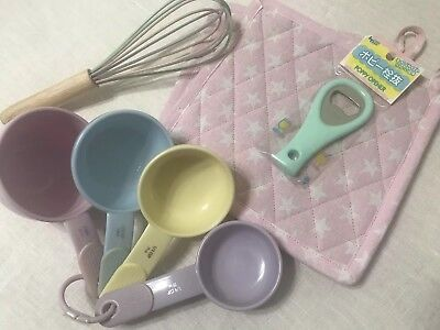 Pastel Kitchen Kitchenaid Measuring Cups Whisk Pot Holders Set
