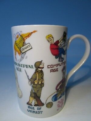 Vintage Dunoon Ceramics Bone China Mug - 'Ages of Man' by Cherry Denman.