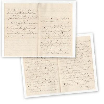 Old 4 page letter of 1864  (4867