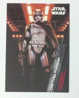 2015 Topps Star Wars The Force Awakens Series 1 First Order FO-2 Captain Phasma