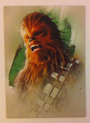 Topps Star Wars Journey to The Last Jedi Character chase card 5 of 16 Chewbacca