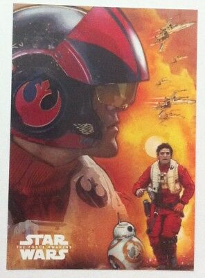2015 Topps Star Wars The Force Awakens Character Montage # 3 Poe Dameron