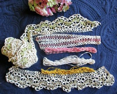 Antique/vintage Lot Of Coronation Cord Plus Examples Of How It Can Be Used