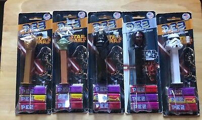 Mixed Lot STAR WARS Pez Dispensers Loy of 5