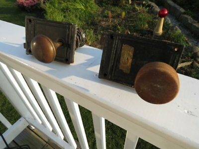 Vintage Set Of Old Door Knobs Lock Sets