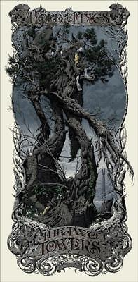 Aaron Horkey LORD OF THE RINGS THE TWO TOWERS Mondo Poster Print Signed
