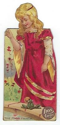 Lion Coffee Children's Dolls With Stories - Frog Prince - late 1800's trade card