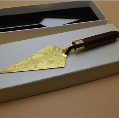 Gold Plated Mason Freemason Masonic Trowel  Cazzuola Placcata Oro Massoneria