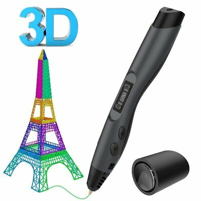LCD 3D Printing Pen Stereoscopic Drawing Arts Crafts +UK Plug +3m Filaments RB