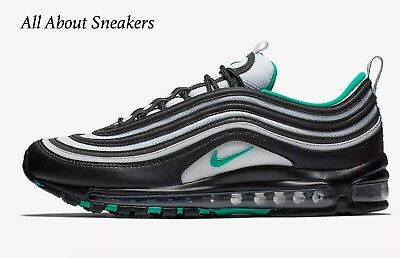 """Nike Air Max 97 """"Black/White/Clear Emerald"""" Men's Limited Stock All Sizes"""