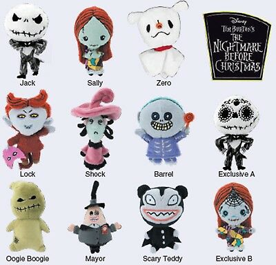 Collectible Nightmare Before Christmas Plush Keyring (Blind Bag) 22655