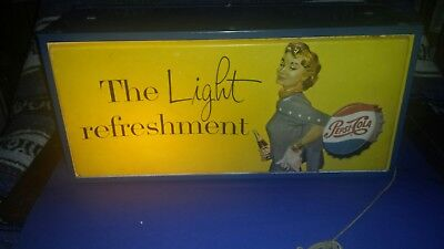RARE1940's Pepsi Cola lighted Sign