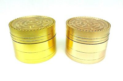 4 Piece Magnetic 2inch Tobacco Herb Grinder Spice Aluminum With Scoop