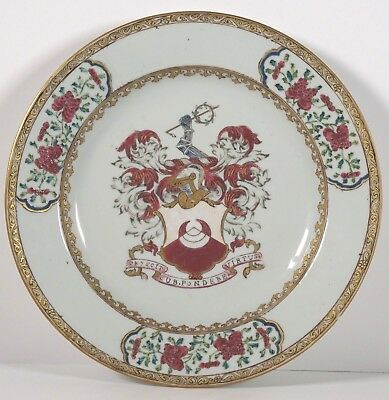 Chinese Porcelain Chapman Armorial Export plate Charger - Qing Qianlong 18th