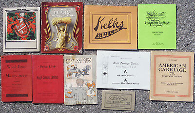 LOT OF 10 HORSE & BUGGY CATALOGS EARLY 20TH CENTURY, US and CANADA, SOME VF