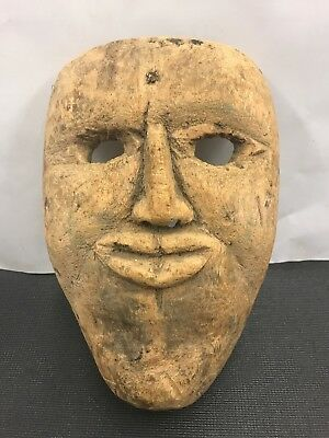 vintage Very folk art  hand carved mask Age Unknown Great Collectable WOW !!!