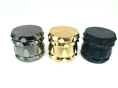 "4 Piece Magnetic 2.2""inch Tobacco Herb Grinder Spice Aluminum With Scoop"