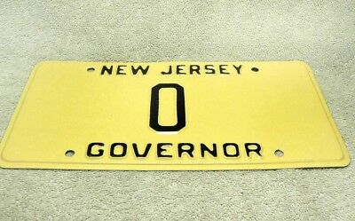 Vintage New Jersey Governor License Plate - Number 0 Zero or Single Letter O